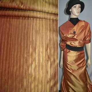 Тафта жатая оранжево-золотистая на трикотажной основе ш.150 оптом