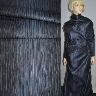 Тафта жатая синяя темная на трикотажной основе ш.150 оптом