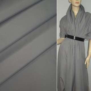 Ткань плащевая серая светлая на трикотажной основе ш.150 оптом