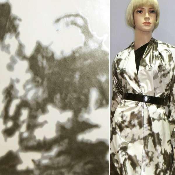 плащевка белая в серый абстр. рисунок ш.140 оптом