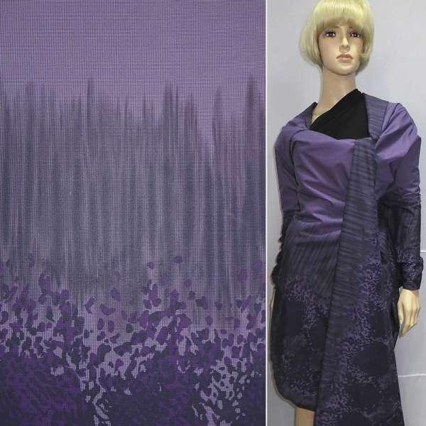 ткань плащ. купон фиолетовая на трикот.основе, ш.150 оптом