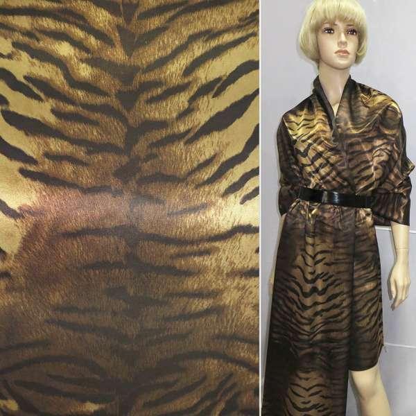 "коттон-атлас с рисунком ""тигр"" ш.150 оптом"