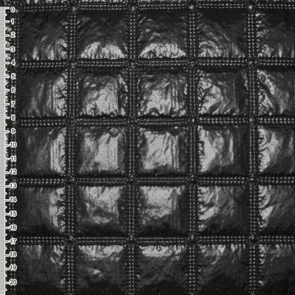 "ткань плащевая стеган. черная блестящ. ""квадраты"" ш.143 оптом"