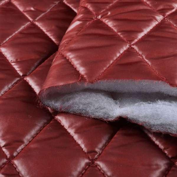 "ткань плащевая стеган. блестящ. бордовая ""ромбы"" 4,5х4,5 ш.150 оптом"