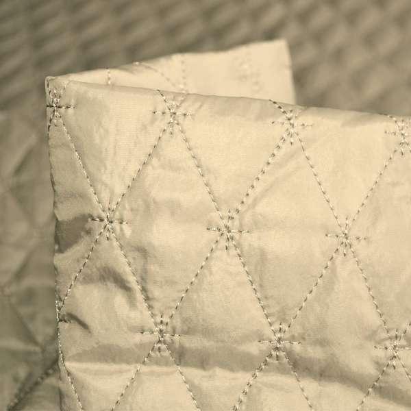 """ткань плащевая стеган. св/бежевая блестящ. """"ромбы"""" ш.150 оптом"""