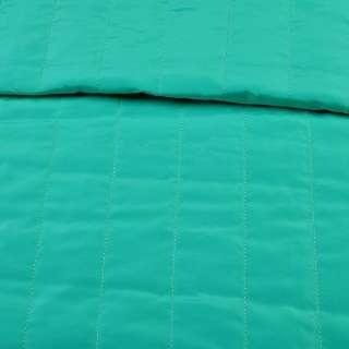 ткань плащевая стеганая мятная матовая полоска (5 см), ш.150 оптом