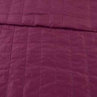 Тканина плащова стеганая лиловая матова смужка (5 см), ш.150 оптом