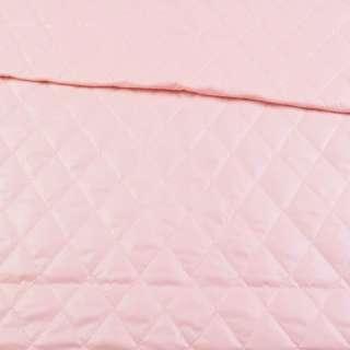 ткань плащевая стеганая розовая ромбы ш.150 оптом