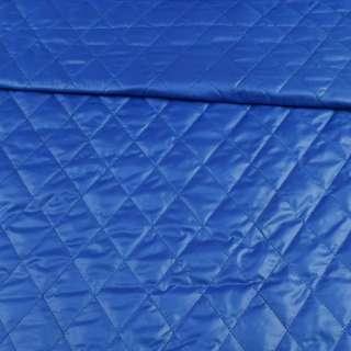 Тканина плащова стеганая синя ромби ш.150 оптом