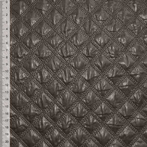 ткань плащевая стеган. коричневая ш.150 оптом