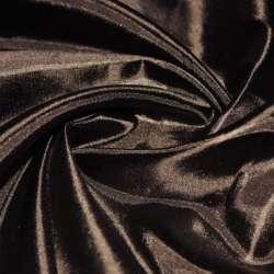 Шелк ацетатный коричневый с черным оттенком ш.150