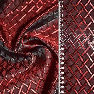 "Вискоза жак. красно-черная хам. ""диагон. клетка"" ш.140 оптом"