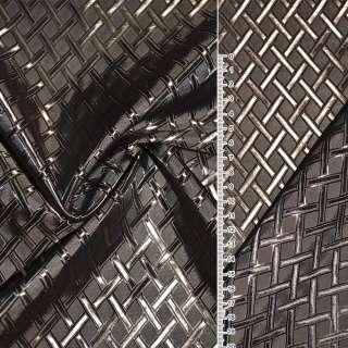 """Вискоза жак. коричнево-бежевая """"диагон. клетка ш.140 оптом"""