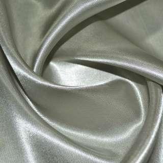 Атлас підкладковий сірий з оливковим відливом ш.150 оптом