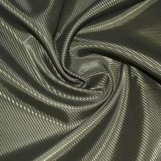 Тканина підкладкова поліестер діагональ зелена темна ш.145 оптом