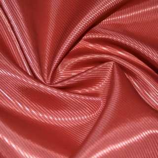 Тканина підкладкова поліестер діагональ червоно-теракотова ш.145 оптом