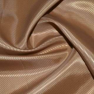 Тканина підкладкова поліестер діагональ коричнева світла ш.145 оптом