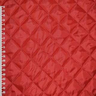 Ткань подкладочная стеганая красная (синтепон 100) ш.150 оптом