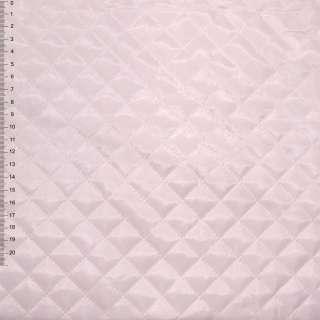 """Ткань подкладочная стеганая бледно-розовая """"квадрат"""" ш.150 оптом"""