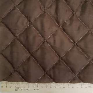 Ткань подкладочная термостеганая коричневая (синтепон 100), ш.150 оптом