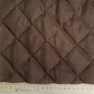 Тканина підкладкова термостьобана коричнева (синтепон 100), ш.150 оптом