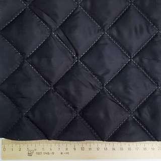 Тканина підкладкова термостьобана синя темна (синтепон 100), ш.150 оптом