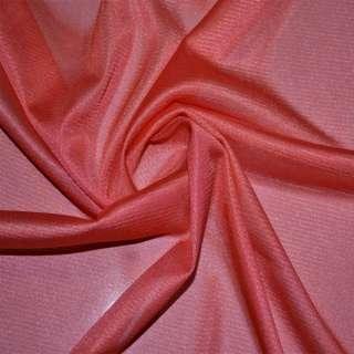Ткань подкладочная трикотажная кораллово-красная ш.155 оптом