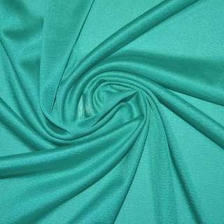 Ткань подкладочная трикотажная бирюзовая ш.155 оптом