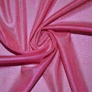 Ткань подкладочная трикотажная розовая насыщенная ш.150 оптом