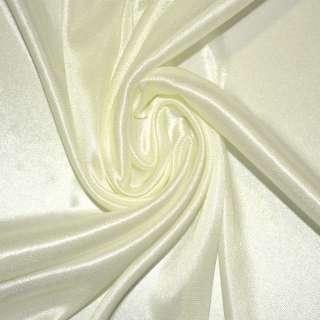 Ткань подкладочная трикотажная кремовая ш.155 оптом
