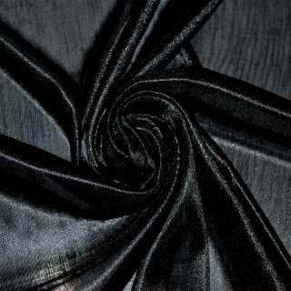Ткань подкладочная трикотажная черная ш.160 оптом