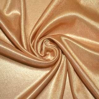 Ткань подкладочная трикотажная золотисто-рыжая ш.158 оптом