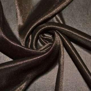 Ткань подкладочная трикотажная коричневая ш.160 оптом