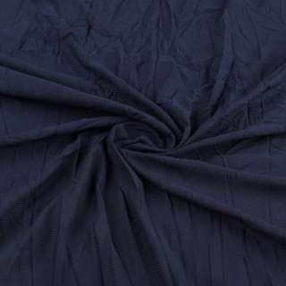 Сетка подкладочная жатая синяя темная ш.130 оптом