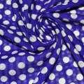Поплин структурный синий в белый горох ш.150 оптом