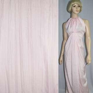 Поплин жатый бледно розовый ш.140 оптом