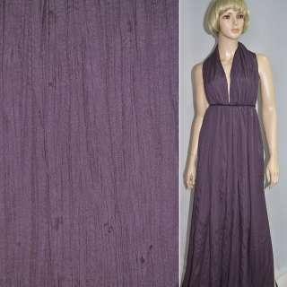 Поплин жатый темно фиолетовый ш.140 оптом