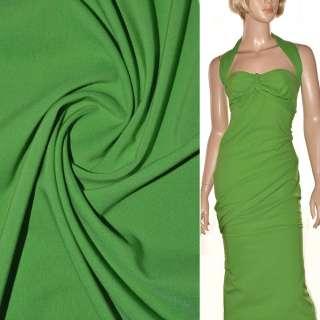 Поплин стрейчевый зеленый (весенний) ш.150 оптом
