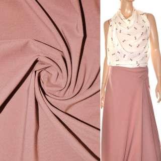 Поплин стрейчевый розово-серый ш.150 оптом