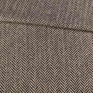 Букле черно-белое в крупную елочку, ш.150 оптом