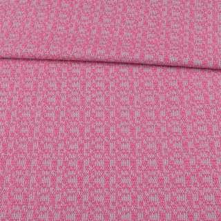 Рогожка костюмна рожево-сіра ш.150 оптом