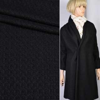 Рогожка пальтовая черная ш.150 оптом