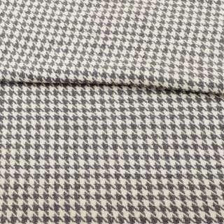 Рогожка в сіро-білу гусячу лапку ш.152 оптом