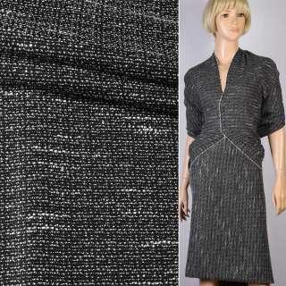 Рогожка чорна з білими штрихами ш.150 оптом