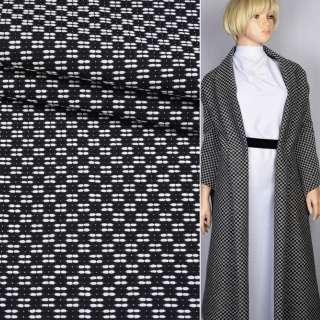 Рогожка біло-чорна шахматка ш.150 оптом