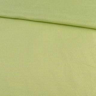Рогожка салатово-желтая, ш.140 оптом