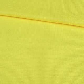 Рогожка стрейч желтая яркая, ш.145 оптом