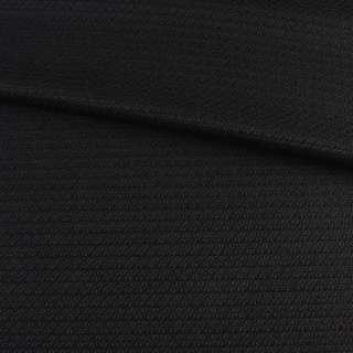 Рогожка стрейч черная, ш.150 оптом