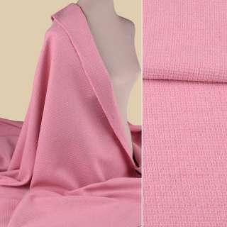 Рогожка букле костюмна рожева, ш.155 оптом