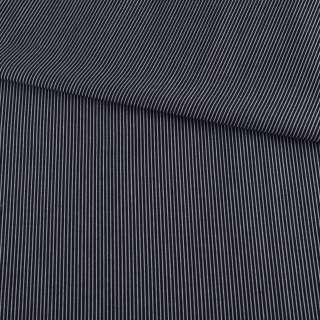 Вискоза рубашечная черная в тонкую белую полоску ш.147 оптом